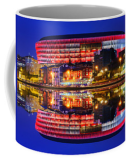 San Mames Stadium At Night With Water Reflections Coffee Mug