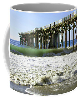 Coffee Mug featuring the photograph San Simeon Pier by Art Block Collections