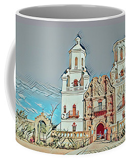 Coffee Mug featuring the photograph San Xavier Del Bac Remix One by Dan McManus