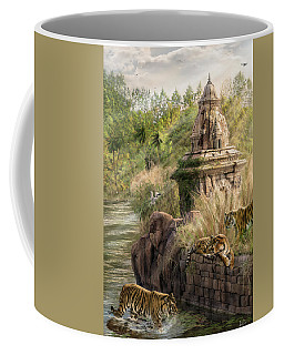 Coffee Mug featuring the digital art Sanctuary by Don Olea