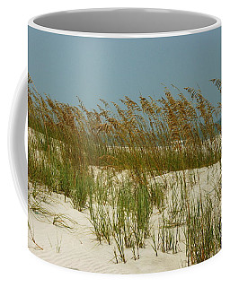 Sand And Sea Oats Coffee Mug by Myrna Bradshaw