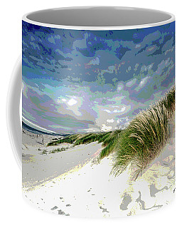 Sand And Surfing Coffee Mug by Charles Shoup