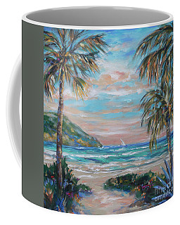 Coffee Mug featuring the painting Sand Bank Bay by Linda Olsen