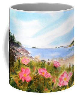 Sand Beach Roses Coffee Mug