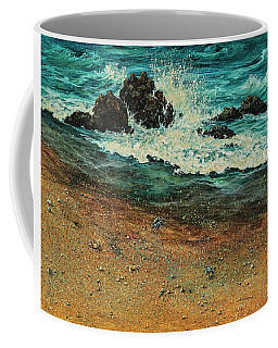 Coffee Mug featuring the painting Sand Crabs by Darice Machel McGuire