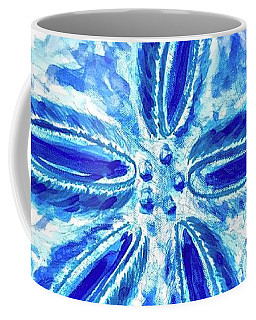 Coffee Mug featuring the painting Sand Dollar by Monique Faella
