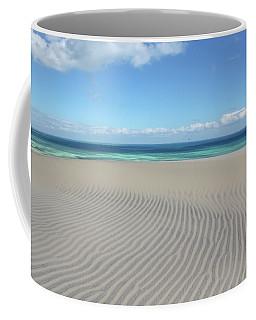 Sand Dune Ripples And The Ocean Beyond Coffee Mug