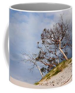 Sand Dune With Bent Trees Coffee Mug by Lexa Harpell