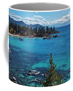 Sand Harbor Lookout By Brad Scott  Coffee Mug