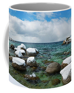 Sand Harbor Winter Panorama By Brad Scott Coffee Mug
