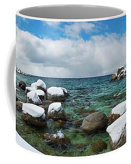 Sand Harbor Winter Panorama By Brad Scott Coffee Mug