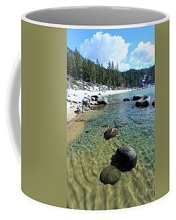 Sand Language In Winter Coffee Mug by Sean Sarsfield