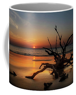 Sand Surf And Driftwood Coffee Mug
