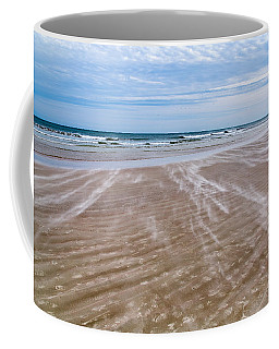 Coffee Mug featuring the photograph Sand Swirls On The Beach by John M Bailey