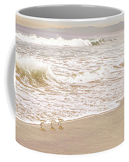 Coffee Mug featuring the photograph Sandelings In Hermosa by Michael Hope