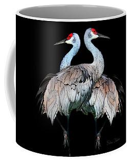 Sandhill Crane Mirror Image Coffee Mug
