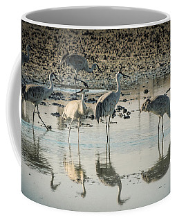 Sandhill Crane Reflections Coffee Mug