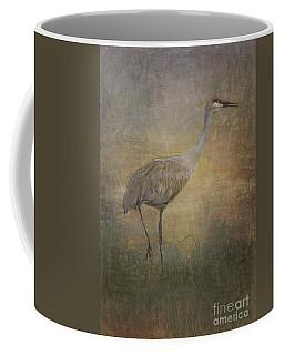 Sandhill Crane Watercolor Coffee Mug