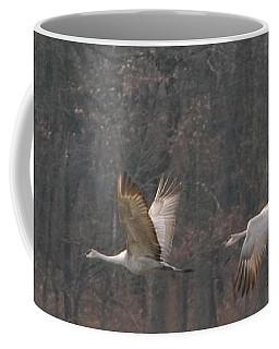 Coffee Mug featuring the photograph Sandhills In Flight by Shari Jardina