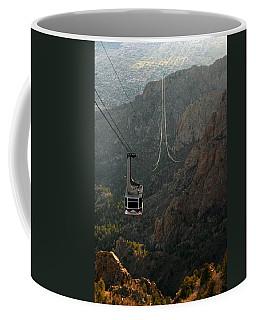Sandia Peak Cable Car Coffee Mug by Joe Kozlowski