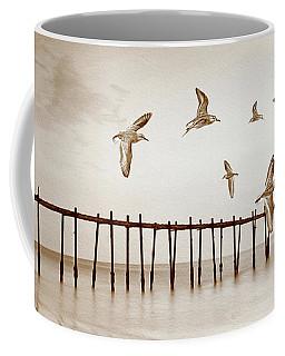 Sandpipers In Sepia Coffee Mug
