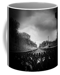 Coffee Mug featuring the photograph Sandscale Crossing by Keith Elliott