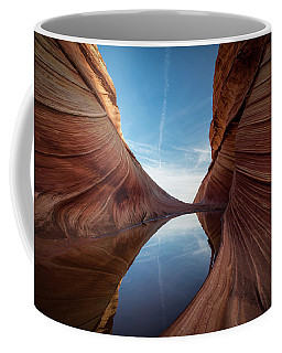 Coffee Mug featuring the photograph Sandstone And Sky by James Udall