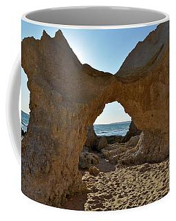 Sandstone Arch In Gale Beach. Algarve Coffee Mug