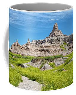 Coffee Mug featuring the photograph Sandstone Battlestar by John M Bailey