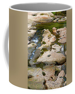 Coffee Mug featuring the photograph Sandstone Creek Bed by Sharon Talson