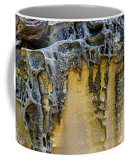 Coffee Mug featuring the photograph Sandstone Detail Syd01 by Werner Padarin