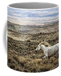 Coffee Mug featuring the photograph Sandwash Stallion Galloping by Joan Davis