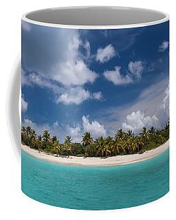 Coffee Mug featuring the photograph Sandy Cay Beach British Virgin Islands Panoramic by Adam Romanowicz