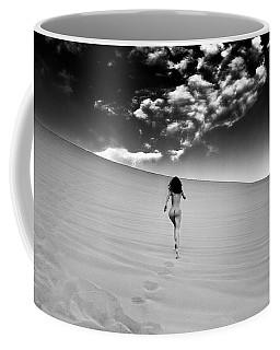 Sandy Dune Nude - Catching The Clouds Coffee Mug
