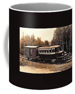 Sandy River And Rangely Lakes Railroad With Kennebago Bus Company Engine 1920 Coffee Mug by Peter Gumaer Ogden