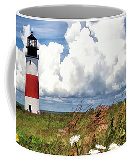 Coffee Mug featuring the painting Sankaty Head Lighthouse by Christopher Arndt