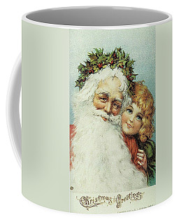 Santa And His Little Admirer Coffee Mug by Reynold Jay