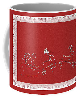 Coffee Mug featuring the photograph Santa And His Team by Ellen O'Reilly