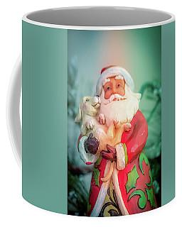 Santa And Lab Pup Coffee Mug