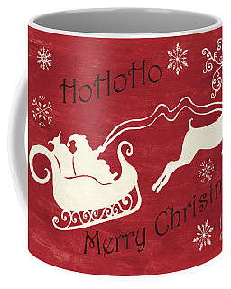 Santa And Reindeer Sleigh Coffee Mug