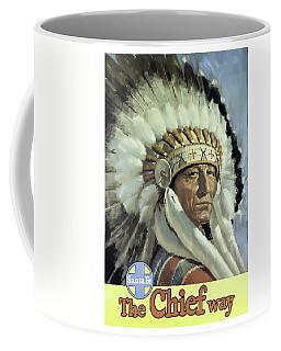 Santa Fe, Indian Chief, Vintage Travel Poster Coffee Mug