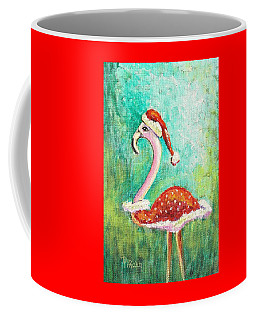 Santa Flamingo Coffee Mug
