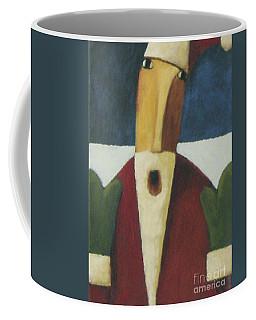 Coffee Mug featuring the painting Santa by Glenn Quist