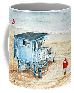 Santa Is On The Beach Coffee Mug