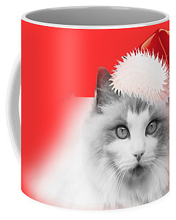 Santa Kitty Coffee Mug