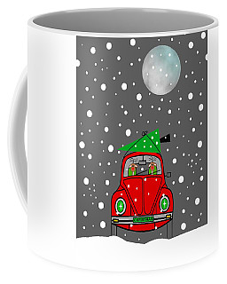 Santa Lane Coffee Mug