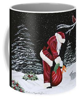 Santa Loves All Creatures Coffee Mug