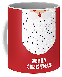 Coffee Mug featuring the digital art Santa Merry Christmas by Christopher Meade
