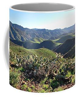 Coffee Mug featuring the photograph Santa Monica Mountains - Hills And Cactus by Matt Harang