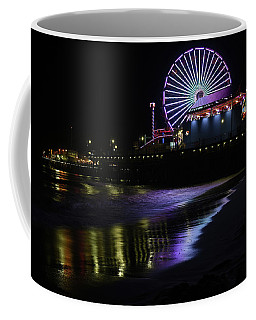 Santa Monica Pier At Night 2 Coffee Mug